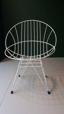 Weiß Bemalte Metall Gartenstühle, 1960er, 2er Set 1