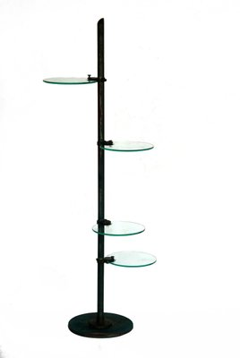 Vendita Mensole Vetro.Lampada Da Terra Vintage Industriale Con Mensole In Vetro