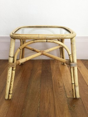 Rattan Side Table From Ikea 1960s For Sale At Pamono