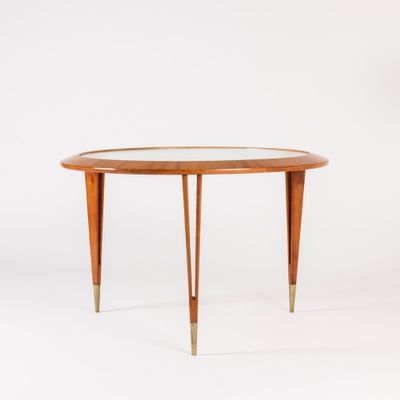 Gl And Mahogany Coffee Table By Bertil Fridhagen For Bodafors 1940s