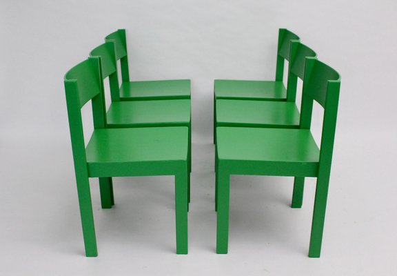 Mid Century Green Modern Dining Room Chairs By Carl Auböck For E A Pollack 1950s Set Of 6