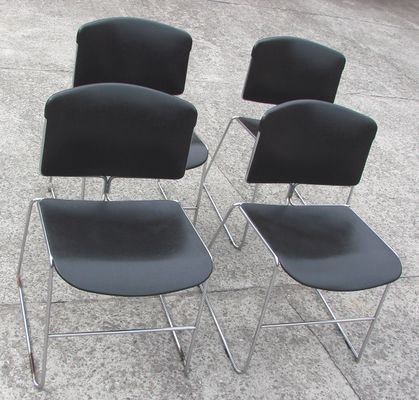 vintage american max stacker chairs from steelcase set of 4 for