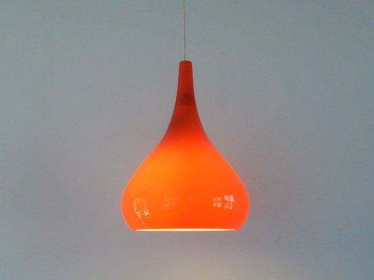 Verre Orange Vintage À Suspension En Lampe fy6b7g