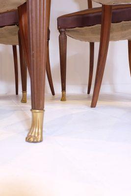De Salon Vintage 6 SoieItalie1950sSet Avec Et Tapisserie Chaises En Noyer Bronze pMGSUzLqV
