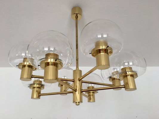 Moderne Lampen 8 : Arm brass chandelier from kaiser leuchten s for sale at pamono