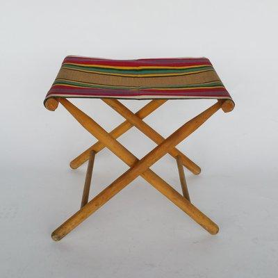 Stupendous Vintage Folding Camp Stool 1950S Bralicious Painted Fabric Chair Ideas Braliciousco