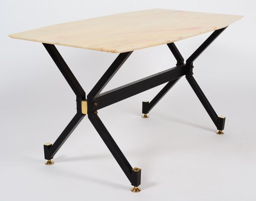 Italian Coffee Table With Marble Top 1960s 1