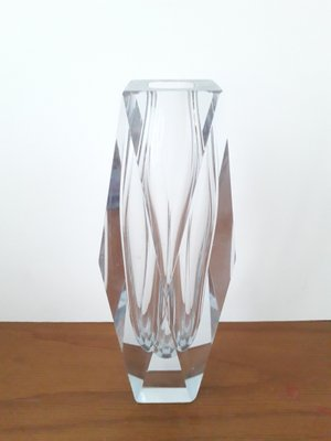 Vintage Clear Faceted Murano Glass Vase For Sale At Pamono