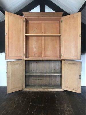 Antique Pine Storage Cabinet For