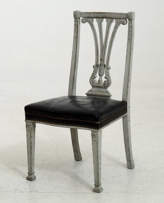 19th Century Large Gustavian Style Dining Chairs, Set Of 6 1