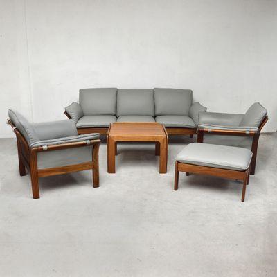 Palisander U0026 Leder Wohnzimmer Set, 1970er 1