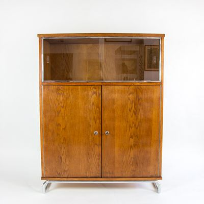 Vintage Filing Cabinet with Display Case 1 - Vintage Filing Cabinet With Display Case For Sale At Pamono