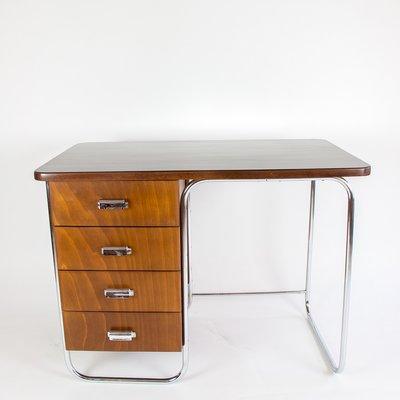 Schreibtisch vintage  Vintage Desk with Tubular Steel Base