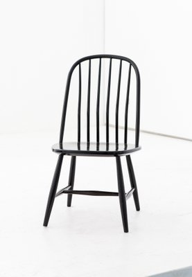 Black Wooden Dining Chairs By Bengt Akerblom G Eklöf For Akerblom 1950s Set Of 6