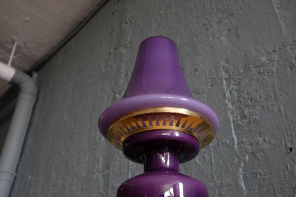 Lampada Scrivania Viola : Lampada da tavolo viola in ottone e vetro di hans agne jakobsson