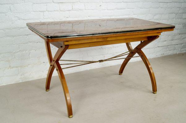 Tavolo da pranzo allungabile in legno di noce, Francia, anni \'50 in ...