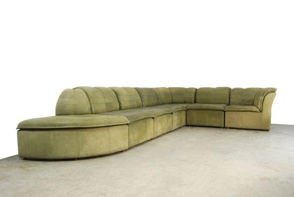 Modular Nubuck Leather Sofa From Laauser 1970s 1