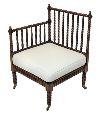 antique bobbin corner chair for sale at pamono
