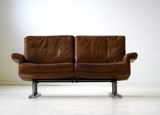 Awesome Vintage Model Ds 31 Leather 2 Seater Sofa From De Sede Set Of 2 Dailytribune Chair Design For Home Dailytribuneorg