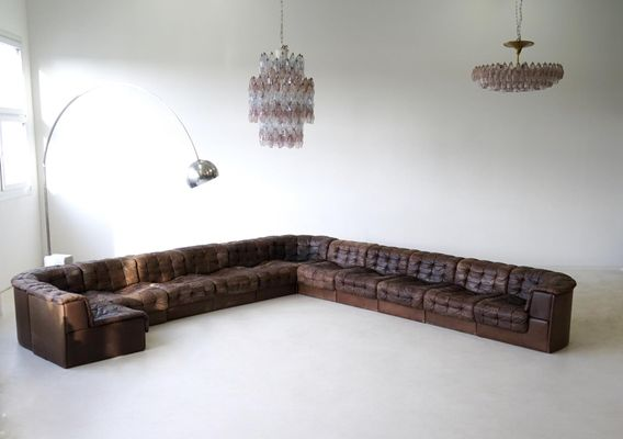 Vintage DS 11 Leather Modular Sofa from de Sede for sale at Pamono