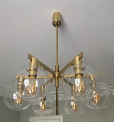 6 round light globes chandelier by hans agne jakobsson 1960s for 6 round light globes chandelier by hans agne jakobsson 1960s 2 aloadofball Gallery