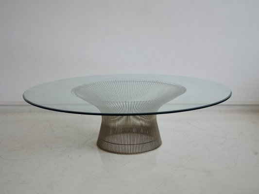 Mid Century Wire Round Gl Coffee Table By Warren Platner For Knoll International 1