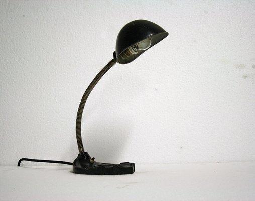 Lampe de bureau art déco en métal noir s en vente sur pamono