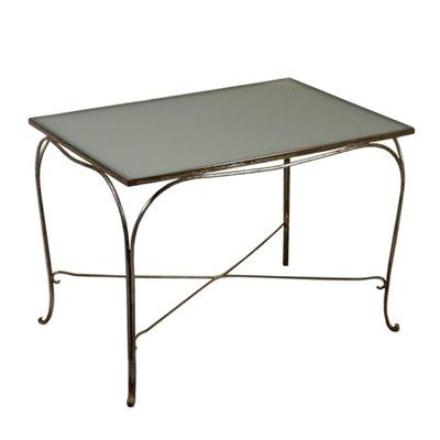 3783fc760e5f Italian Wrought Iron   Glass Table