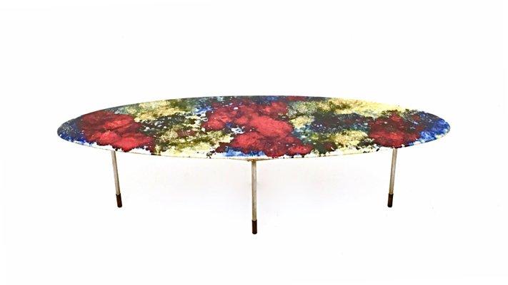 Basse Céramique Keramos1960s De En Table Stil Multicolore Laquée D9E2HI