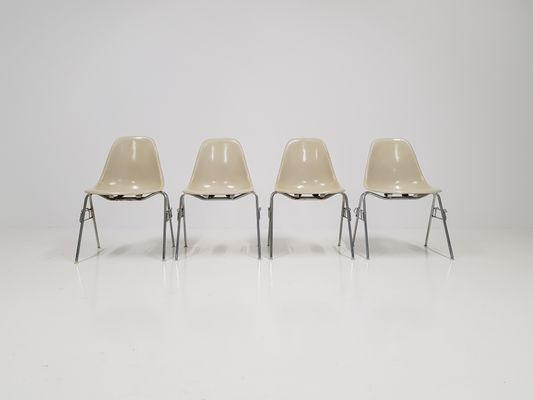 Mid Century DSS Fiberglass Shell Chairs By Charles U0026 Ray Eames For Herman  Miller,