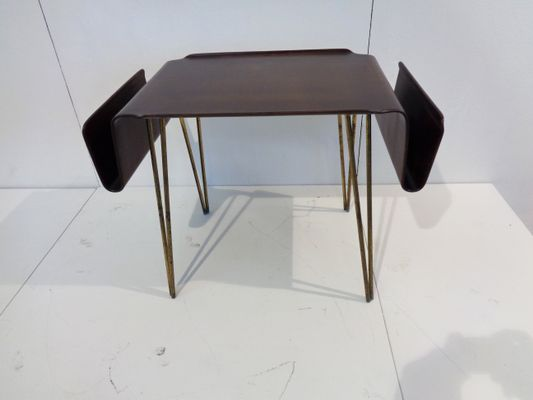 Italian Plywood Curved Coffee Table U0026 Magazine Rack From Carlo Ratti, ...