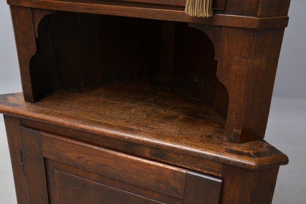 Antique Corner Cabinet in Oak 3 - Antique Corner Cabinet In Oak For Sale At Pamono