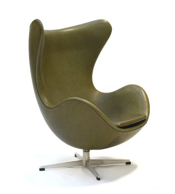 Green Egg Chair by Arne Jacobsen for Fritz Hansen, 1960s for sale at ...