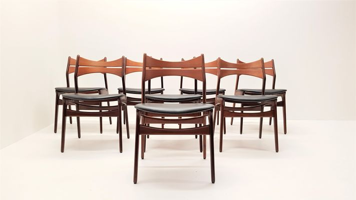 Mid-Century Model 310 Teak Dining Chairs by Erik Buch Set of 8 2 & Mid-Century Model 310 Teak Dining Chairs by Erik Buch Set of 8 for ...