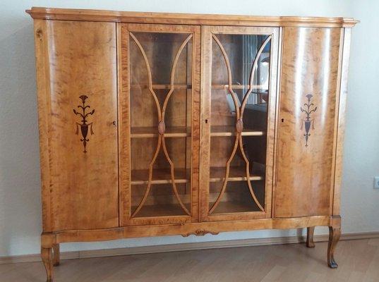 Credenza Con Vetrina Antica : Vetrina antica in legno di betulla inizio xx secolo vendita su