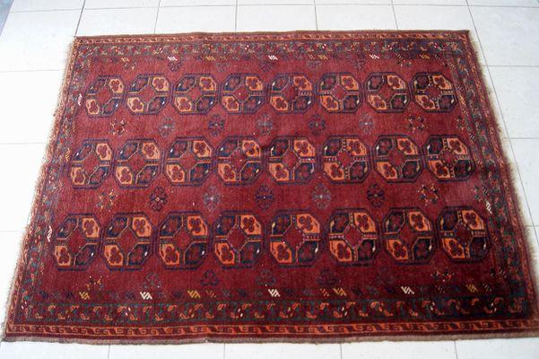Antique Afghan Rug, 1900s 2