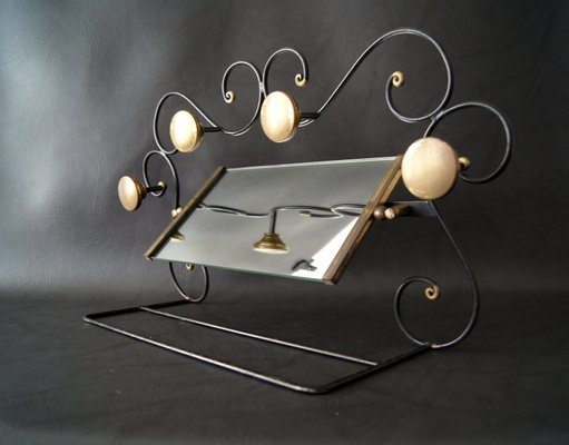 Vendita Appendiabiti.Appendiabiti Art Deco In Ferro Battuto Vetro E Ottone In Vendita Su