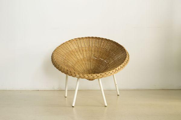 Rattan Armchair, 1960s 1