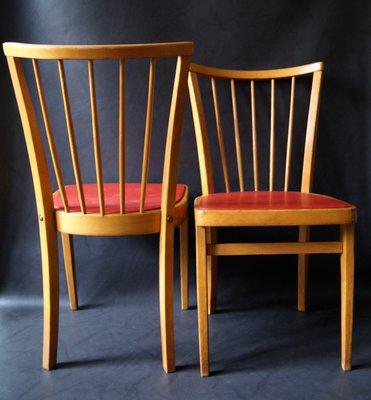 Sedie In Legno Anni 50 60.Sedie In Legno Anni 50 Set Di 2 In Vendita Su Pamono