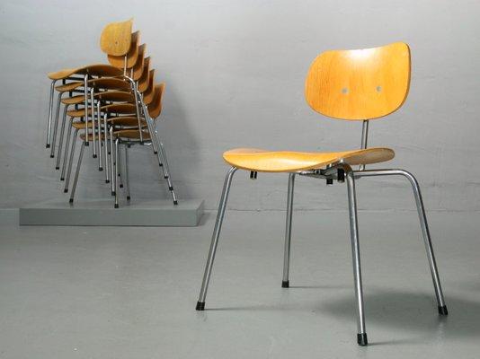 Se 68 Stuhl Aus Furnierter Eiche Von Egon Eiermann Für Wilde