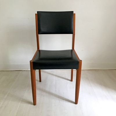 Mid Century French Side Chairs, 1960s, Set Of 6 1