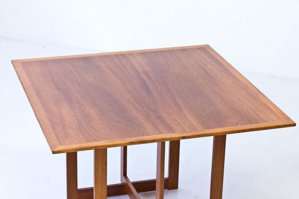 Square Mahogany Coffee Table From Karl Andersson Söner 1950s