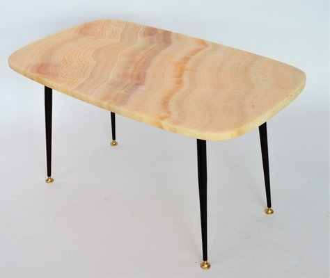 Pink Marble Top Coffee Table Or Side Table, 1950s 2