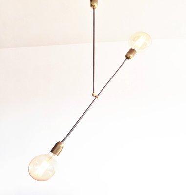Balance de de acero y latón moderna Lámpara industrial Lamp colgante Igm6bYf7yv