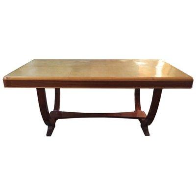 Tavolo vintage in legno di noce e pergamena, Francia, anni \'30 in ...