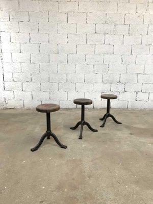 Cool Vintage Industrial Cast Iron Stools Set Of 3 Inzonedesignstudio Interior Chair Design Inzonedesignstudiocom