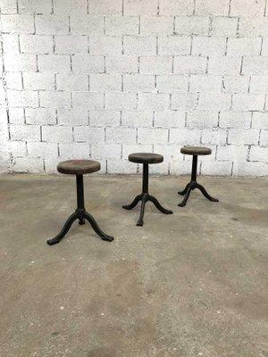 125d33e63e957 Vintage Industrial Cast Iron Stools
