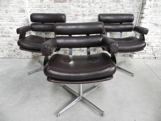 Sedie da barbiere vintage set di 3 in vendita su pamono