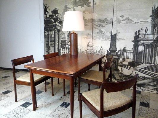 Tavolo da pranzo moderno allungabile in palissandro, Danimarca, anni \'60