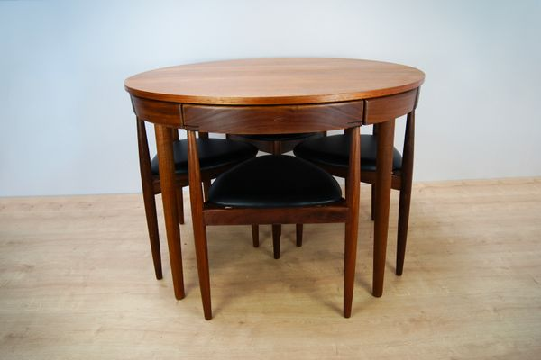 MidCentury Roundette Dining Table Chairs By Hans Olsen For - Coffee table with 4 chairs